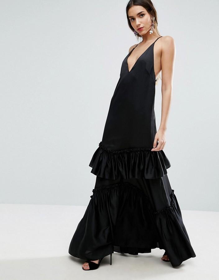 AsosASOS Tiered Ruffle Cami Maxi Dress