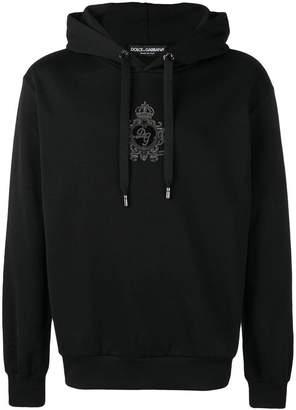 Dolce & Gabbana logo patch hoodie