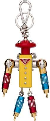 Prada Gigi Saffiano Leather Keychain Trick