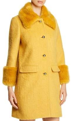 Kate Spade Faux-Fur Collar Coat