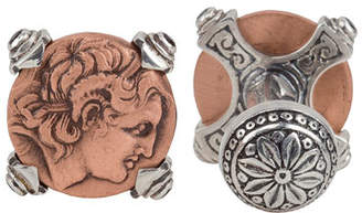 Konstantino Men's Sterling Silver & Copper Alexander the Great Cuff Links w/Spinel Insets