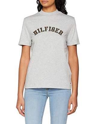 ... Tommy Hilfiger Women s Mimi High Nk Tee Ss T-Shirt, (Light Grey HTR dbbd959c6fd2