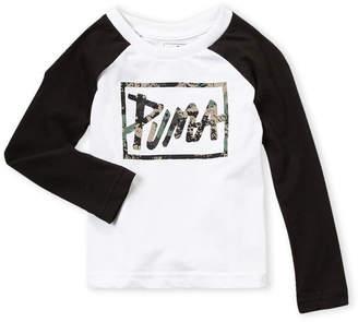 Puma Toddler Boys) Logo Raglan Baseball Tee