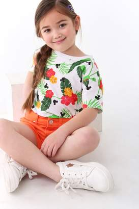 Forever 21 Girls Mickey Tropical Graphic Tee (Kids)
