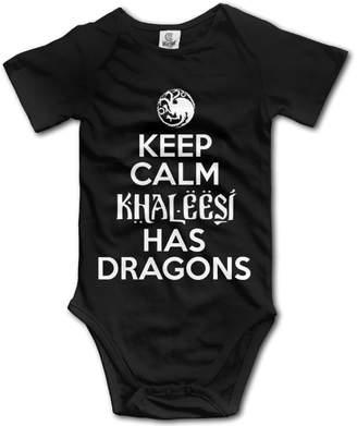 Rise Keep Calm Khaleesi Has Dragons Design Baby Onesie Bodysuit