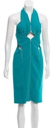 Dion Lee Halter Midi Dress Turquoise Halter Midi Dress