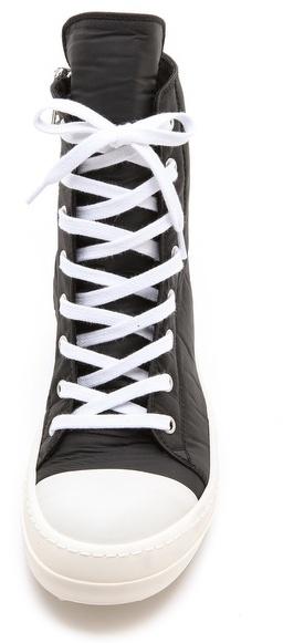 Rick Owens Ramones High Top Sneakers
