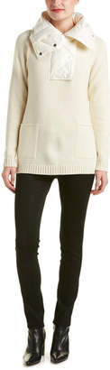 Moncler Down Wool & Cashmere-Blend Padded Sweater