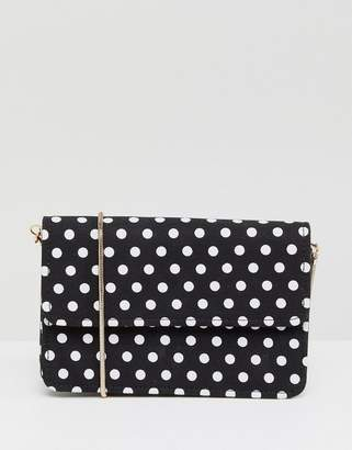 Miss Selfridge Polka Dot Crossbody Bag