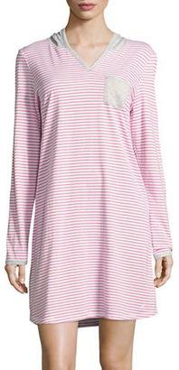 Nautica Knit Hooded Sleepshirt $48 thestylecure.com