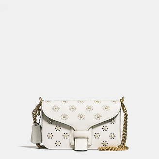 COACH Coach Courier Crossbody In Glovetanned Leather With Whipstitch Eyelet And Snake Detail $895 thestylecure.com