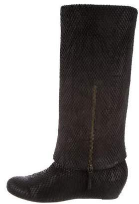 Elizabeth and James Embossed Knee-High Boots