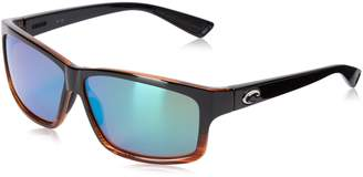 Costa del Mar Cut Polarized Rectangular Sunglasses, /Blue Mirror