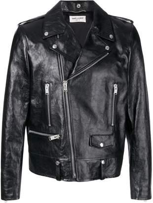 Saint Laurent fitted biker jacket