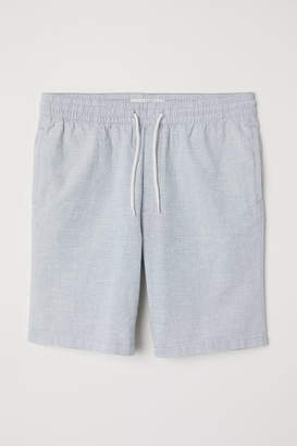 H&M Knee-length Cotton Shorts - Blue