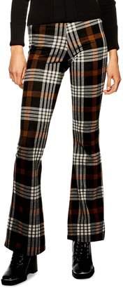 Topshop Plaid Flare Pants