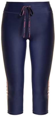The Upside Sarafina Nyc Side Striped Performance Leggings - Womens - Navy Multi