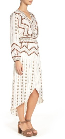 Women's Fraiche By J Print Faux Wrap Dress 4