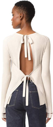 Helmut Lang Back Tie Sweater $435 thestylecure.com