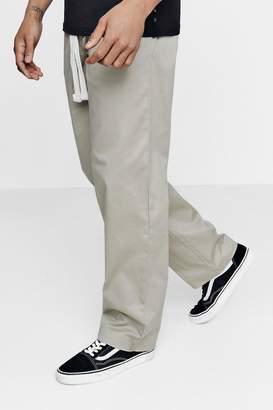 boohoo Wide Leg Chino with Drawcord