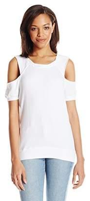 Pam & Gela Women's S/s Cold Shoulder Sweatshirt