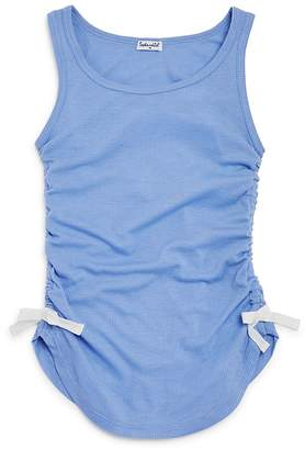 Splendid Girls' Ribbed Tank Top with Bow Details - Big Kid