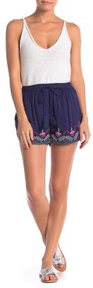 Angie Embroidered Trim Shorts