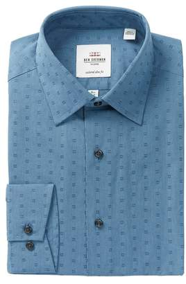 Ben Sherman Floral Dobby Print Slim Fit Dress Shirt