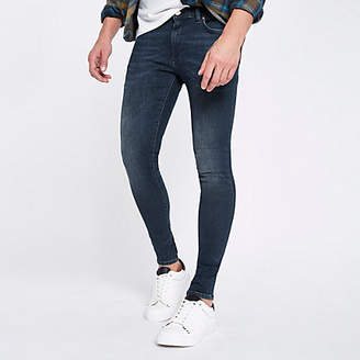 River Island Dark blue Ollie super skinny spray on jeans