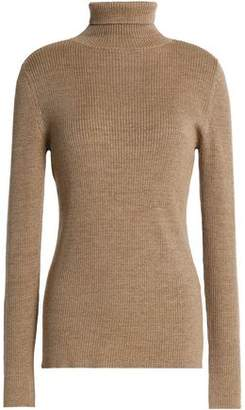 Vanessa Seward Metallic Ribbed Wool-Blend Turtleneck Sweater