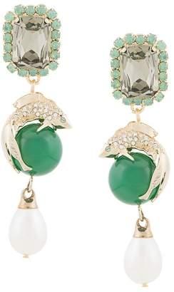 Erdem crystal earrings