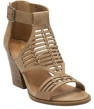 Rampage Women's Elvie Caged Open Toe Chunky Heel Sandal Heeled