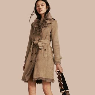 Burberry Shearling Trench Coat $3,295 thestylecure.com