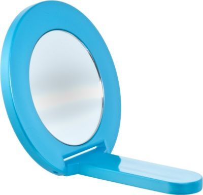 Satina Round Blue High Definition Small Folding Hand Mirror