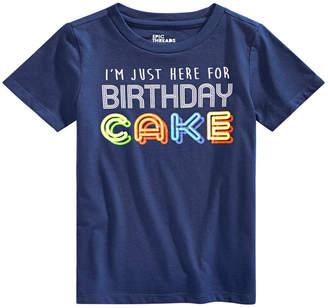 Epic Threads Boys Little Boys Birthday Cake Graphic T-Shirt