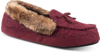 Paige Isotoner Signature Women Tweed Moccasin Slippers