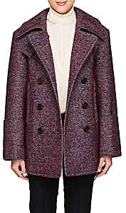 Chloé Women's Wool-Blend Tweed Double-Breasted Coat - Red, Blue