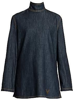 Valentino Women's Chambray Highneck Tunic
