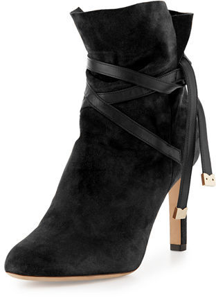 Jimmy Choo Jimmy Choo Dalal Suede Ankle-Wrap Boot