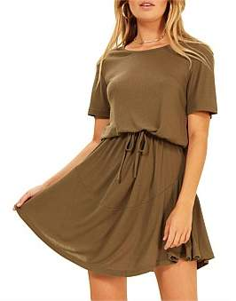MinkPink So Simple Drawstring Dress