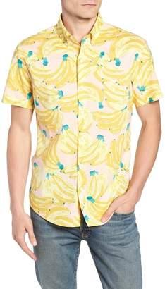 Bonobos Riviera Slim Fit Banana Print Sport Shirt