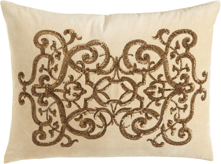 "Callisto Callisto Home Como Sequined Velvet Pillow, 20"" x 26"""