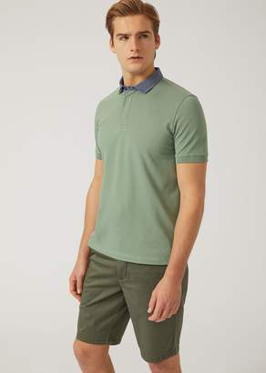 Emporio Armani Polo Shirt In Stretch Cotton Pique