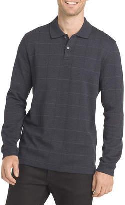 Van Heusen Mens Long Sleeve Polo Shirt Big and Tall