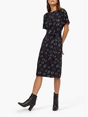 410e7418c335 Warehouse Hula Spot Tie Waist Dress, Multi