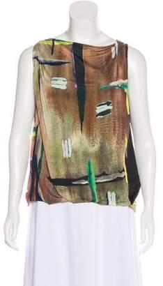 Balenciaga Sleeveless Printed Top