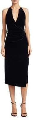 Elie Tahari Belecia Velvet Wrap Dress