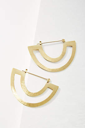 Anthropologie Anastasia Demi Hoop Earrings