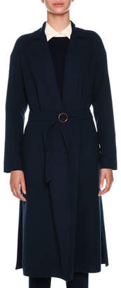 Agnona Double Wool Crepe Timeless Coat
