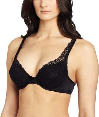 Vassarette Women's Lace Padded Push Up Bra